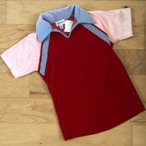 Tops - ▪️vintage red terry t shirt▪️pink lavender polo